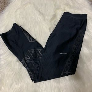 Nike Dri fit black pattern leggings size small